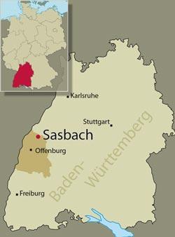 Stadtplan von: Sasbach, Ortenaukreis, Baden-Württemberg